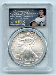 2009 1 American Silver Eagle Pcgs Ms70 Fred Haise
