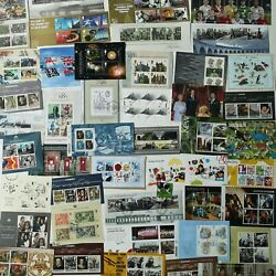 100 Different Great Britain Mini-sheets/souvenir Sheets Stamp Collection
