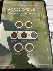 Rare Old 1939-1945 Wwii Us Steel Copper Penny Coin Vintage War Lot Ww2