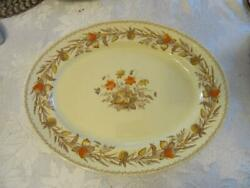 Victorian Johnson Brothers 16 X 12 1/2 Inch Serving Platter Old English Clover