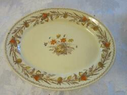 Victorian Johnson Brothers 14 X 11 Oval Serving Platter Old English Clover