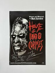 House Of 1000 Corpses Unreleased Signed Movie Poster Sheri Moon Rob Zombie Jsa