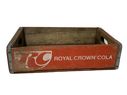 Rare Vtg Royal Crown Rc Cola Red Wooden Crate Soda Pop 2a
