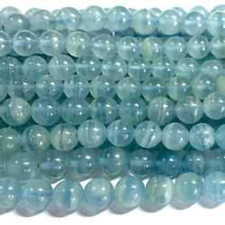 Real Genuine Natural Blue Calcite Round Loose Jewelry Necklaces Bracelets Beads