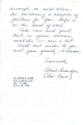 Enola Gay Crew George R. Caron - Autograph Letter Signed 10/12/1979