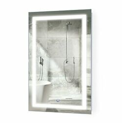 Led Bathroom Mirror 20 Inch X 32 Inch | Lighted Vanity Mirror Includes Dimmer