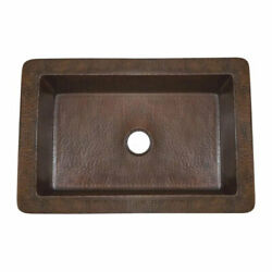Native Trails Cocina 21 Cps278 Single Bowl Undermount Sink Hand Hammered Copper