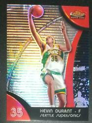 Kevin Durant Topps Finest Refractor Basketball Card 2008 Supersonics Nm-ex