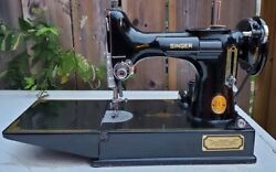 Vtg Singer Featherweight 221k May 23/1949 Serial Ef162448 Tested Works Complete