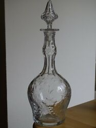 Decanter Wine Glass Crystal St Louis France Patern Virginia