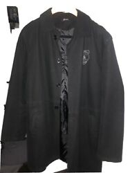 Large Mens Black Dolce Gabbana Trench Coat Made In Italy