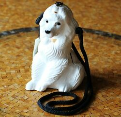 Timmy Woods White Poodle Purebred Hand Carved Dog Purse Clutch Puppy Minaudiere