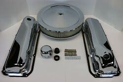 Ford 351c 400m Chrome Engine Dress Up Kit Valve Covers 14 Air Cleaner Gaskets