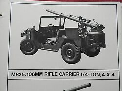 1976-79 Am General M151a2 M825 Rifle Carrier M915 Jeep Truck Tractor Spec Manual