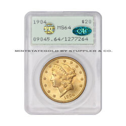 1904 20 Gold Liberty Double Eagle Pcgs Ms64 Pq Approved Cac Certified Rattler
