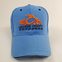 Orange County Choppers Embroidered Logo Strapback Hat Cap Sky Blue