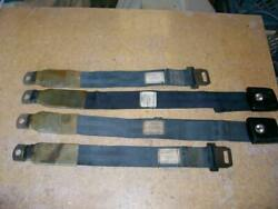 1968 1969 Mustang Cougar Shelby Xr7 Gte Gt Rear Seat Belt Parts Used Black