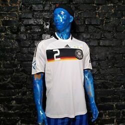 Andreas Beck Germany Team Jersey Match Worn Home Shirt 2008 -2009 Adidas Mens L
