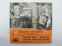 Webster Booth Operatic Favourites No 1 Ep Hmv 7eg8263 Ex 1950s Operatic Favourit