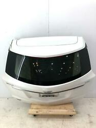 2017 - 2018 Cadillac Xt5 Liftgate Trunk Lid W/ Glass White G1w Top Damaged
