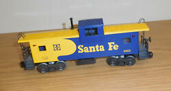 Lionel 6-6903 Santa Fe Sf Extended Vision Caboose Train O Gauge Yellow Blue 1983