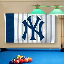 New York Yankees Wincraft Ny Logo 3' X 5' Pinstripes Deluxe Flag