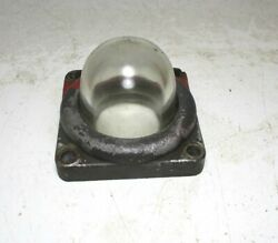 Original Vintage Bennett Gas Pump Sight Glass And Mounting Ring 2