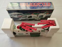 🚁2001 Hess Toy Truck Helicopter With Motorcycle And Cruiser New In Boxandnbsp