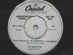 Les Baxter Love Theme From A Farewell To Arms 7 Capitol Cl 14840 Ex 1950s Demo