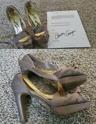 Christy Canyon Signed Worn/owned Shoes Heels From Busty Xxx Adult Star Coa