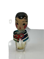 1940andrsquos 50andrsquos Betty Boop Wooden Glass Lucite Perfume Bottle