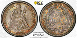 1883 10c Seated Liberty Dime Pcgs Ms 67 Uncirculated Pretty Toned High End