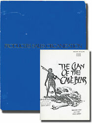 Michael Chapman Clan Of The Cave Bear Original Screenplay For The 1986 130319