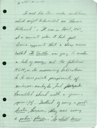 Terry Southern Notes On Actor Rip Torn Original Manuscript Essay 1973 132655