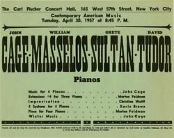 Contemporary American Music Original Flyer For 1957 Performance By John 136132