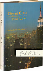 Paul Auster New York Trilogy City Of Glass Ghosts And The Locked Signed 138719