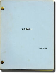 Ron Howard Cocoon Original Screenplay For The 1985 Film 1983 143040