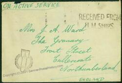 Great Britain Wwii Germany Delayed By Enemy Action Bombing Cover Cachet 46382