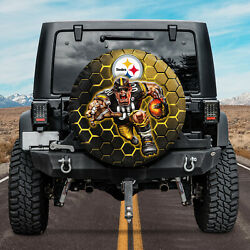 Spare Tire Cover For Jeep Car Decor 3d Fans Pittsburgh Steelers Football Nfl