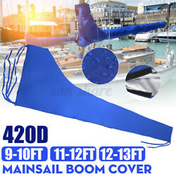 Fits For 9-10ft/11-12ft -13ft Mainsail Boom Cover Sail Protector Waterproof 420d