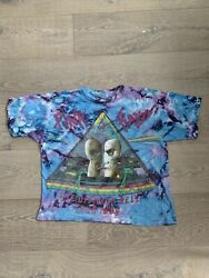Vintage Pink Floyd 1994 Division Bell Tour Tie Dye Concert T Shirt Band Boxy