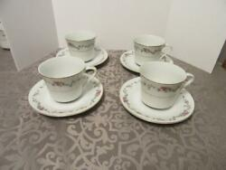 4 Crescent China By Ranmaru Limoge Cups And Saucers