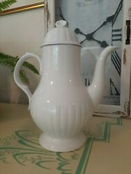 Antique Leeds Teapot Alfred Meakin Ironstone White