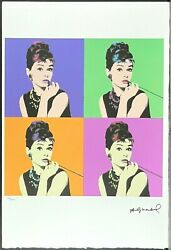 Andy Warhol Audrey Hepburn Signed Lithograph Limited 46/100