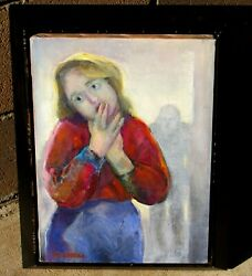 Patricia Terrell O'neal Agatha With Frankenstein In A Doorway Oil Painting