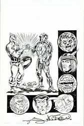 Allen Bellman/ Adelso Corona Signed 2013 Supercon Cover Ink Art Free Shipping