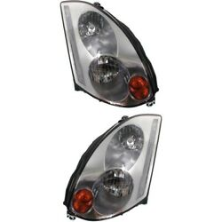 Headlight Set For 2003 2004 2005 Infiniti G35 Coupe Left And Right Hid 2pc