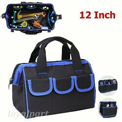 12tool Bag Wide Mouth Heavy Duty Carry Work Tote Storage Electrician Bags Pouch