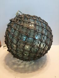 Xxl 15 Inch Antique Japanese Glass Fishing Float Hand Blown D1