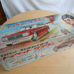 Super Rare Difficult To Obtain Yonezawa Toyopet Crown Tin Toys At That Time